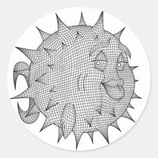Sticker Rond OpenBSD