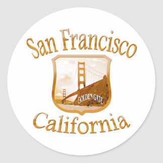 Sticker Rond Or de San Francisco la Californie