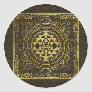 Sticker Rond Or Sri Yantra/Sri Chakra