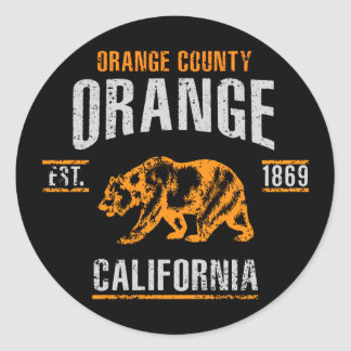 Sticker Rond Orange