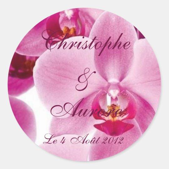 Sticker Rond Orchidée