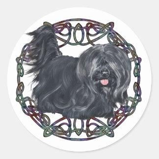 Sticker Rond Oreille de baisse Skye Terrier sur l'arrière -