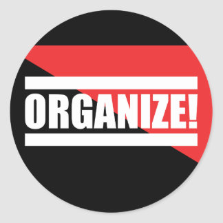 Sticker Rond Organisez l'autocollant