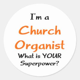 Sticker Rond organiste d'église