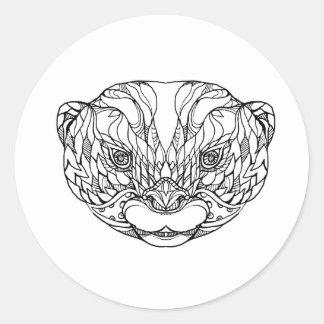 Sticker Rond Oriental De petite taille-a griffé l'art de