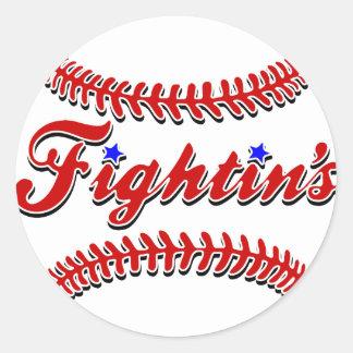 Sticker Rond Original rouge de la dentelle de Fightin