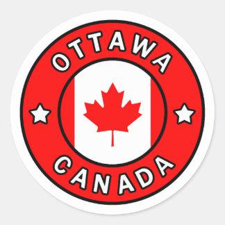 Sticker Rond Ottawa Canada