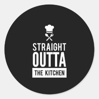 Sticker Rond Outta droit drôle la copie de cuisine