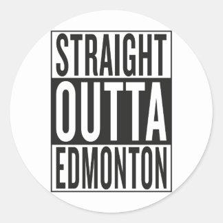 Sticker Rond outta droit Edmonton