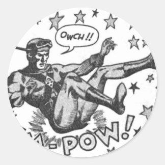 Sticker Rond Owch ! Prisonnier de guerre de ka !