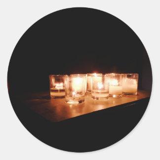 Sticker Rond Paix une nuit orageuse