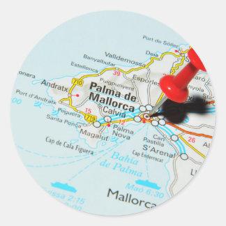 Sticker Rond Palma de Majorque, Espagne