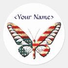 Sticker Rond Papillon américain