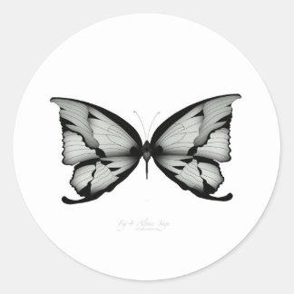Sticker Rond Papillon sage alpin