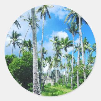Sticker Rond Paradis dans le Pacifique
