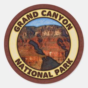 Sticker Rond Parc national de canyon grand