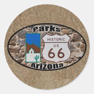 Sticker Rond Parcs historiques Arizona de l'itinéraire 66 des