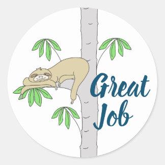 Sticker Rond Paresse dans l'arbre de Cecropia