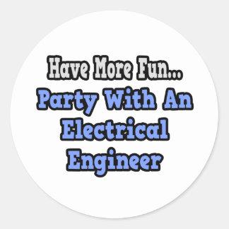 Sticker Rond Partie avec un ingénieur électrique