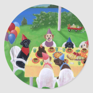 Sticker Rond Partie de Labrador