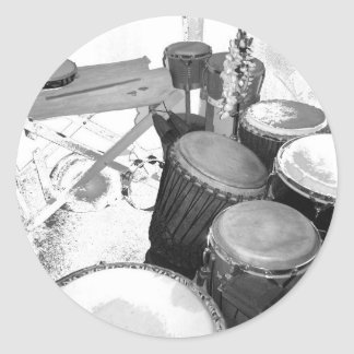 Sticker Rond passion percussion