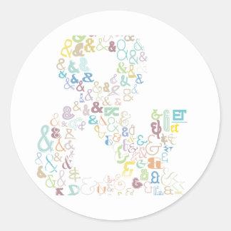 Sticker Rond Pastels d'esperluète