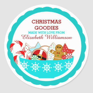 Sticker Rond Pâtisseries personnalisées de Noël