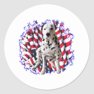 Sticker Rond Patriote dalmatien
