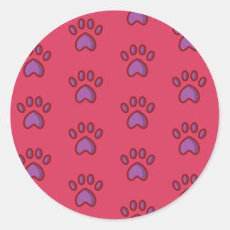 Sticker Rond Pattes audacieuses de fraise d'autocollant de
