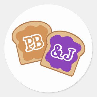 Sticker Rond PB&J mignon