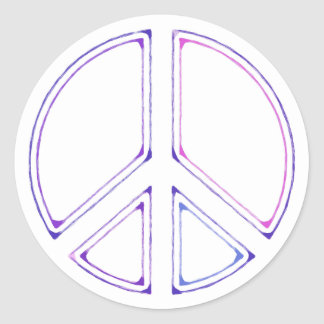 Sticker Rond peace16