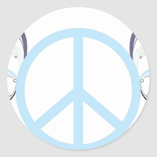 Sticker Rond peace3