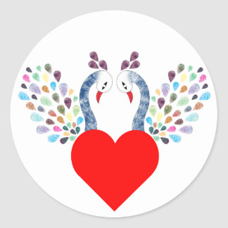 Sticker Rond pecock d'amour