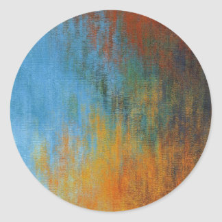 Sticker Rond Peinture à l'huile