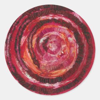 Sticker Rond Peinture-Tissu rouge #2 de 1st-Root Chakra