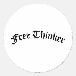 Sticker Rond Penseur libre