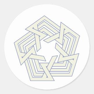 Sticker Rond Penta