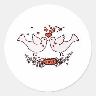 Sticker Rond Perruches 2