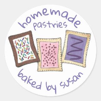 Sticker Rond Personnalisé cuit au four par les pâtisseries