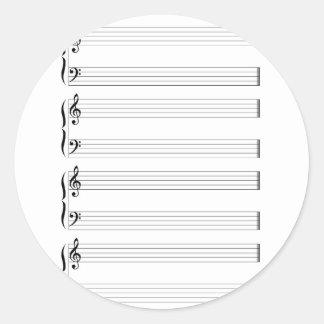 Sticker Rond Personnel et barres musicaux