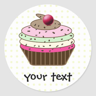 Sticker Rond Petit gâteau doux