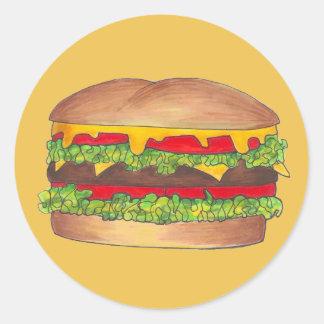 Sticker Rond Petit pain d'aliments de préparation rapide