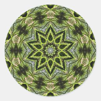 Sticker Rond Petit rond d'étoile d'arbre, 1 pouce de ½ (feuille