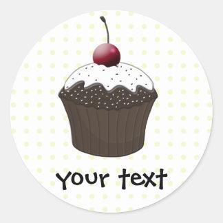 Sticker Rond Petits gâteaux mignons