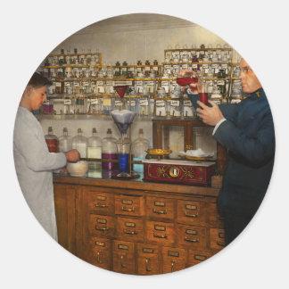 Sticker Rond Pharmacie - le mixologist 1905
