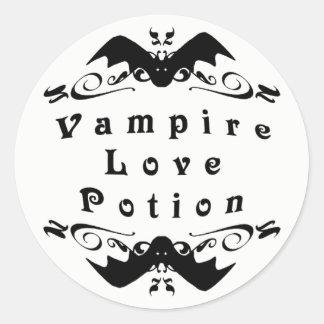 Sticker Rond Philtre d'amour Halloween de vampire