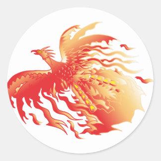 Sticker Rond Phoenix