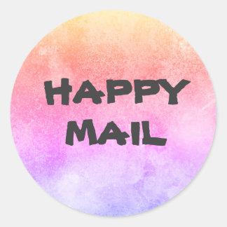 Sticker Rond Phoque heureux d'enveloppe de courrier