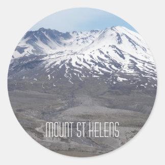 Sticker Rond Photo du Mont Saint Helens