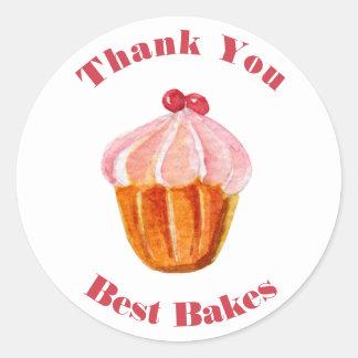 Sticker Rond Photo faite sur commande de boulangerie et modèle